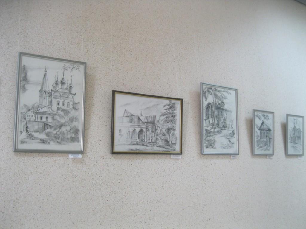 Выставка картин вязниковцев Владимира Ивлева и Елены Дмитриевой 03