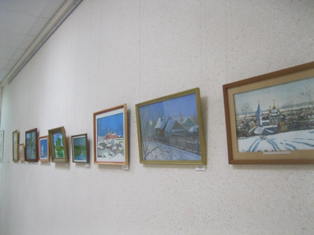 Выставка картин вязниковцев Владимира Ивлева и Елены Дмитриевой 07