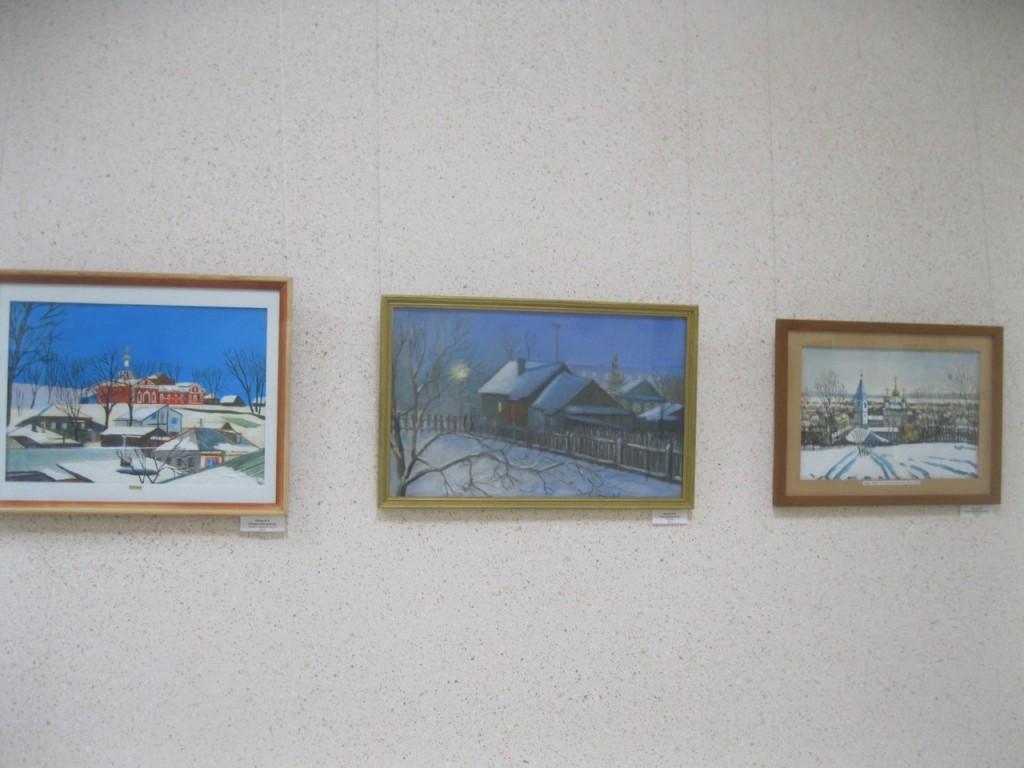 Выставка картин вязниковцев Владимира Ивлева и Елены Дмитриевой 09
