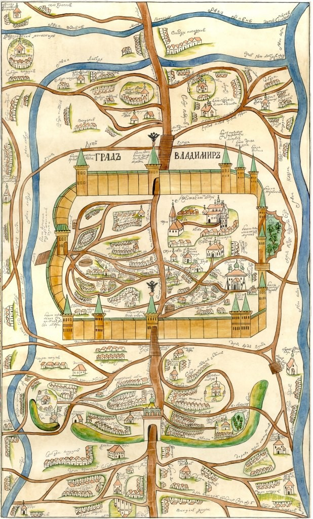 Генеральный план Владимира в конце XVIII века (Екатерина II)
