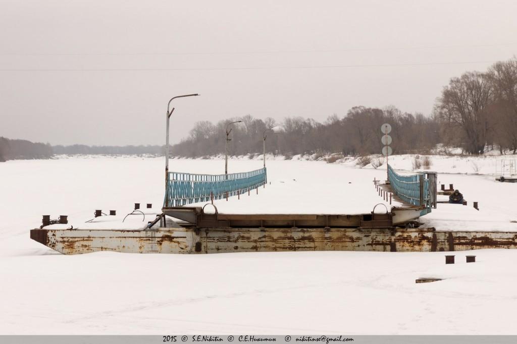 Гороховецкий понтонный мост через реку Клязьма