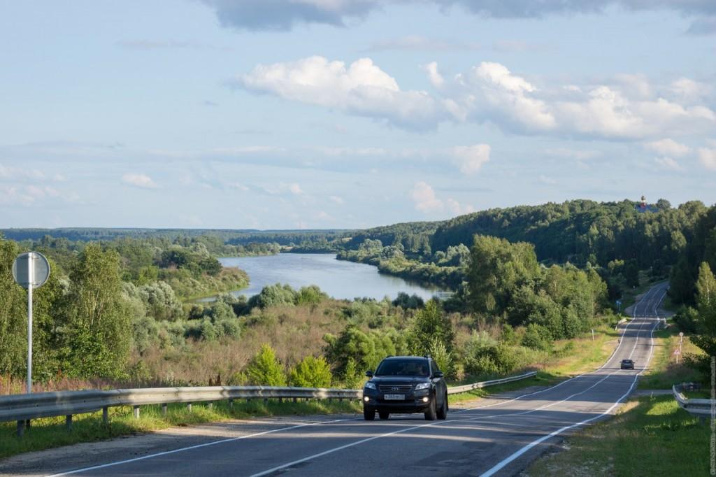 Дорога вдоль Клязьмы на Вязники, Владимирская область.