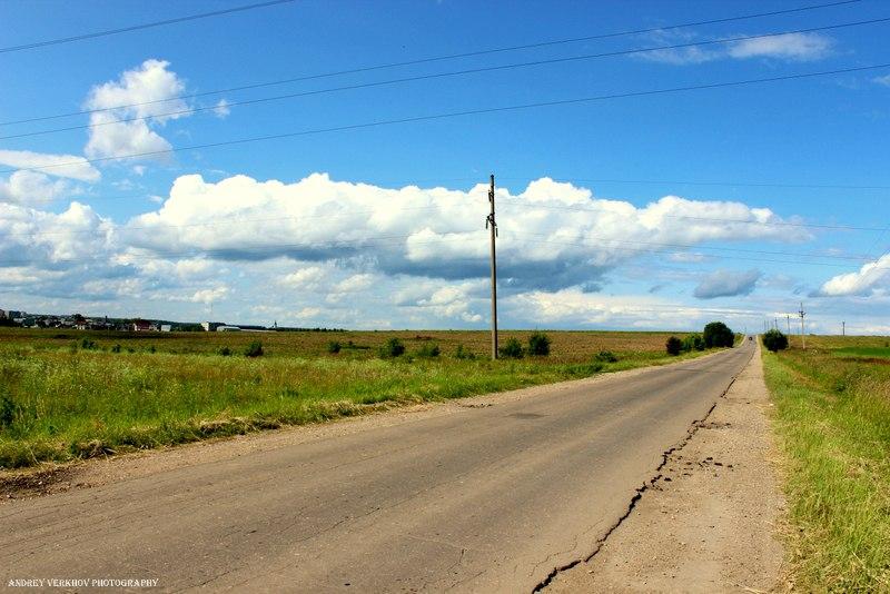 Дорога в город Александров