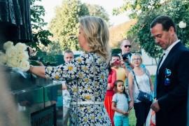 День любви, семьи и верности 2015. Д. Медведев с женой, Ока, мост..