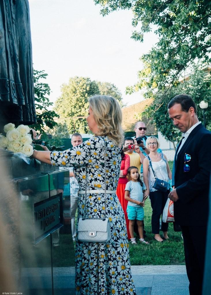 Муром на день семьи. Д.Медведев с женой