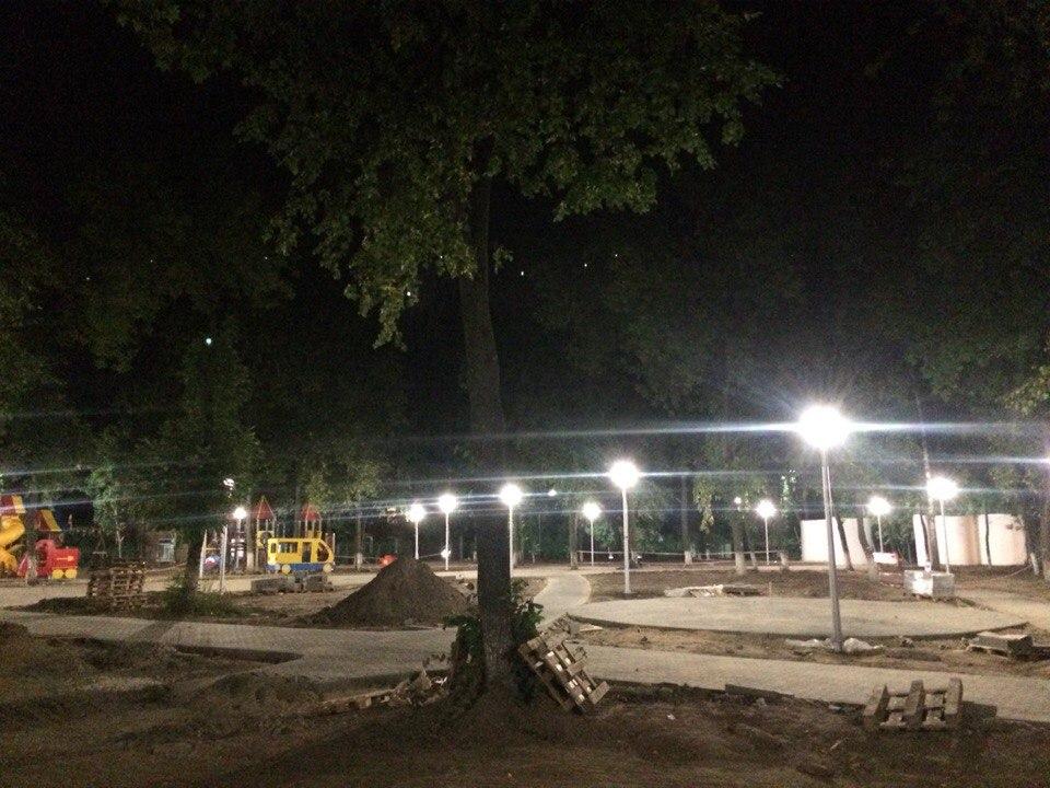 Парк Молодежный Новое освещение 01