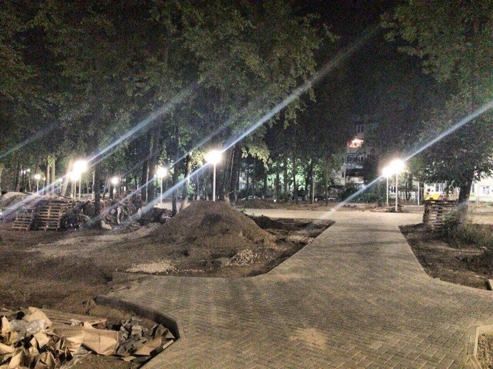 Парк Молодежный Новое освещение 03