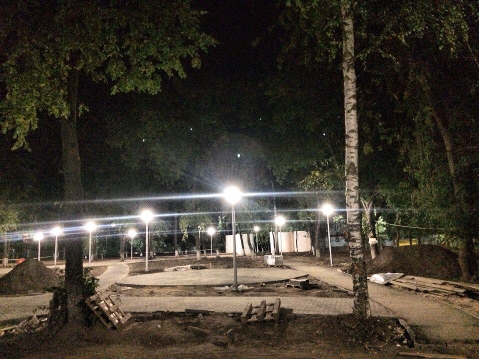Парк Молодежный Новое освещение 04