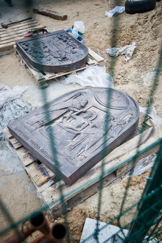 Установка памятника князю Владимиру 20