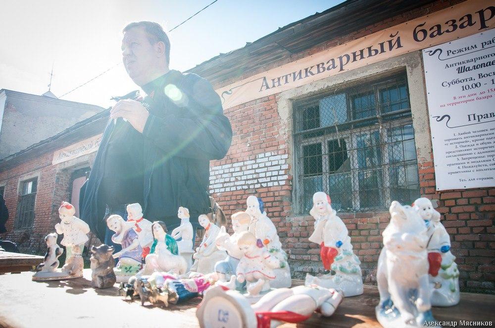 Антикварный базар Шалопаевка во Владимире 01