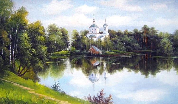 Город Владимир и Река Клязьма в творчестве Грохотовой Светланы. 01
