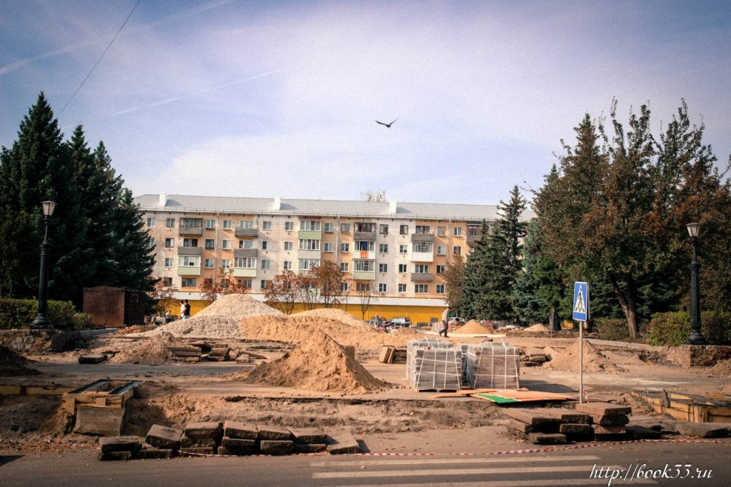 Площадь Прокуророва в активной стадии реконструкции 01