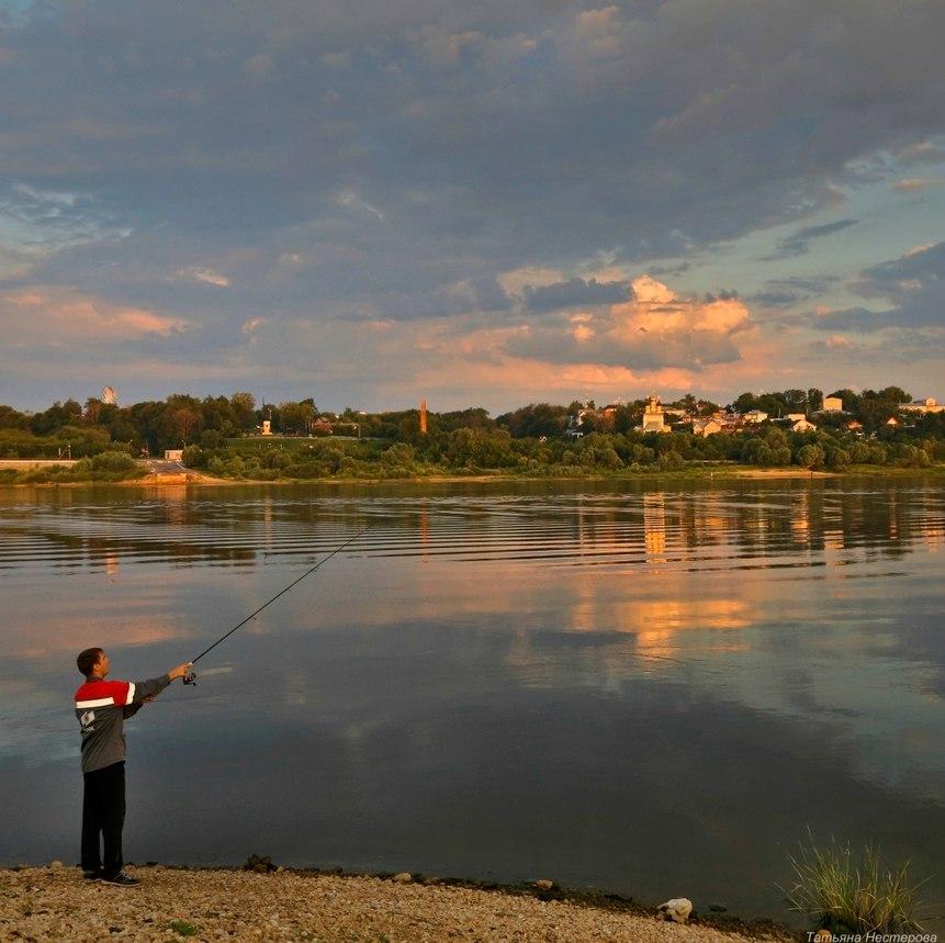Рыбалка в Муроме. Фото Татьяны Нестеровой.