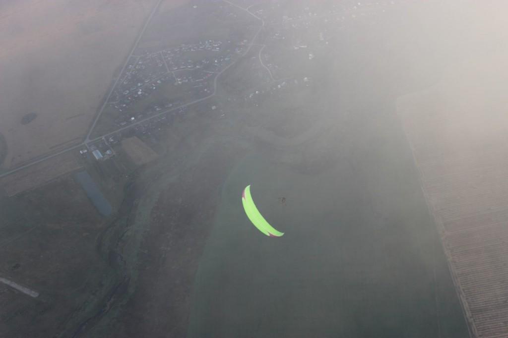 Утренний полет над облаками с парашютистами над Владимирской областью 07
