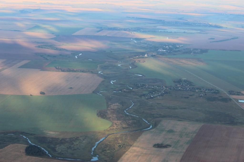 Утренний полет над облаками с парашютистами над Владимирской областью 09