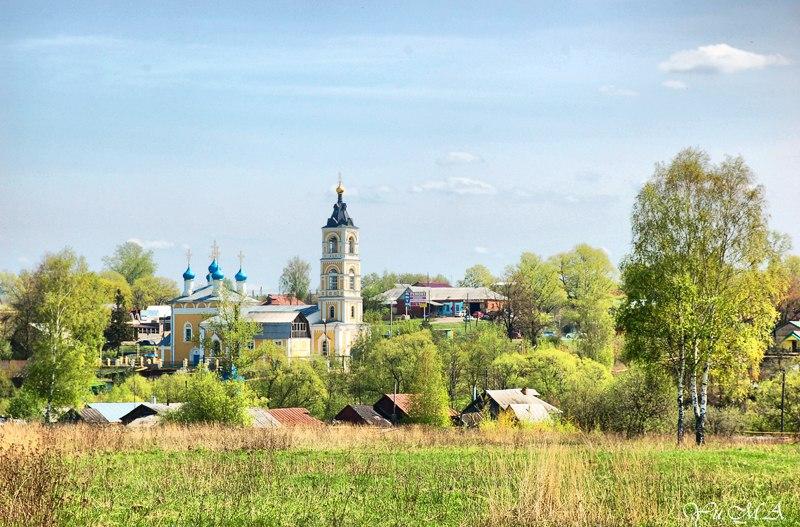 Вид на церковь Казанской Божией матери, г. Лакинск