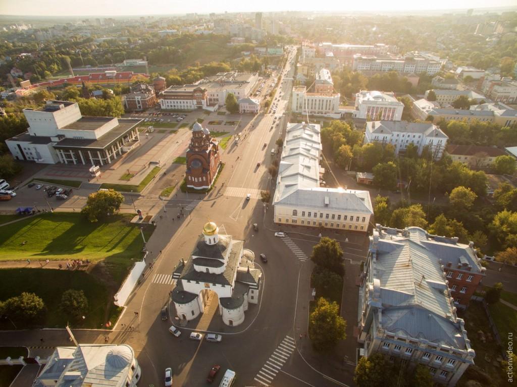 Владимир и его центр с высоты 01