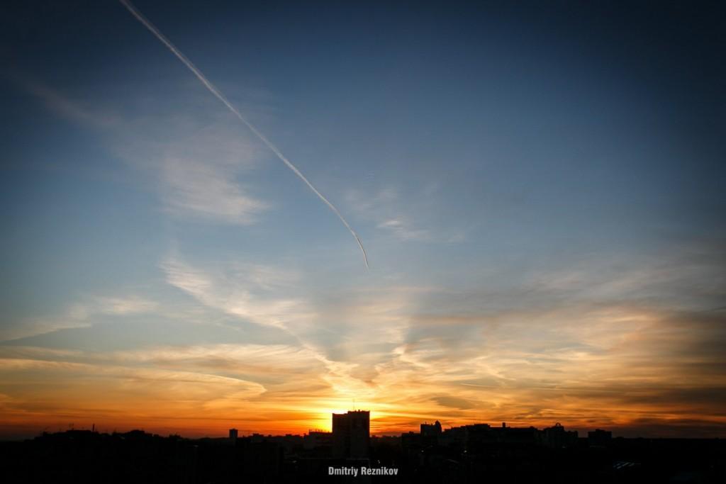 Закат на крыше во Владимире 04