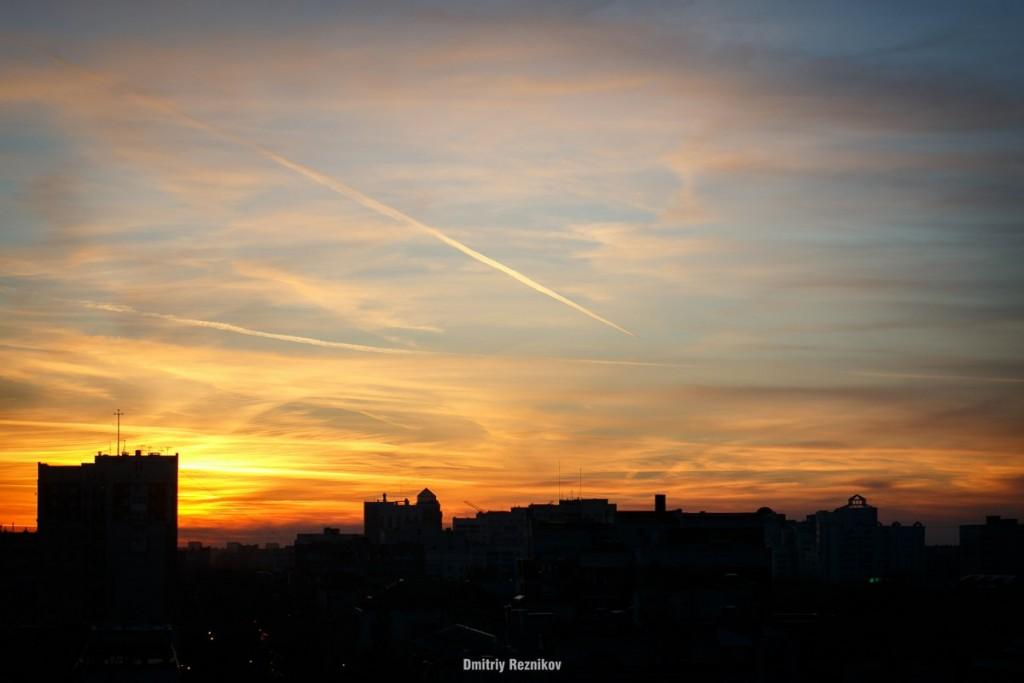 Закат на крыше во Владимире 06
