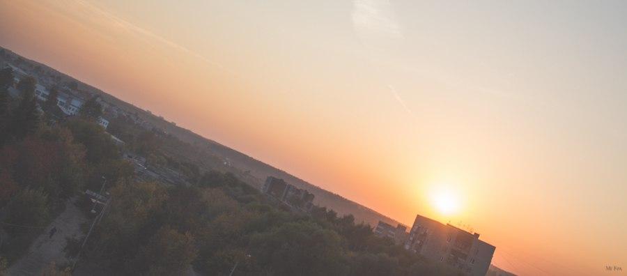 Закат на ул.Балакирева (Владимир)