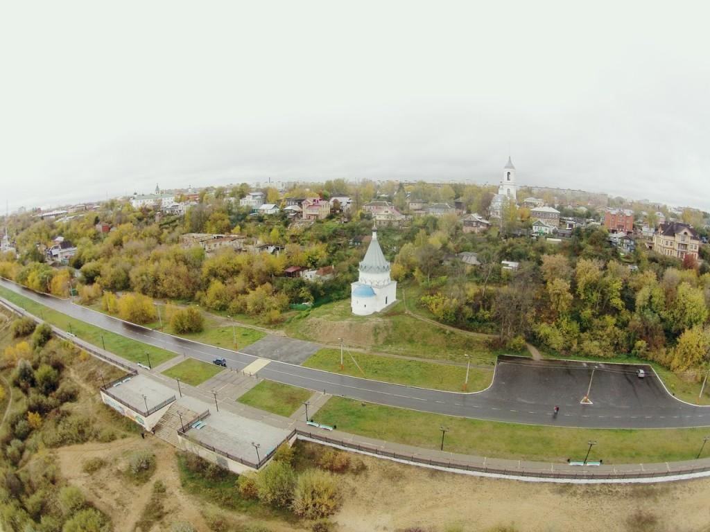 Космодамианская церковь с высоты