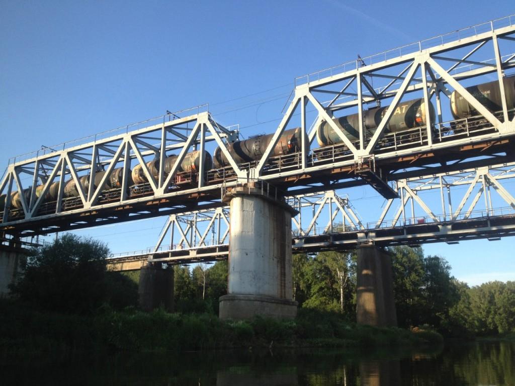 По реке Клязьме 05 Мост Большого кольца МЖД.