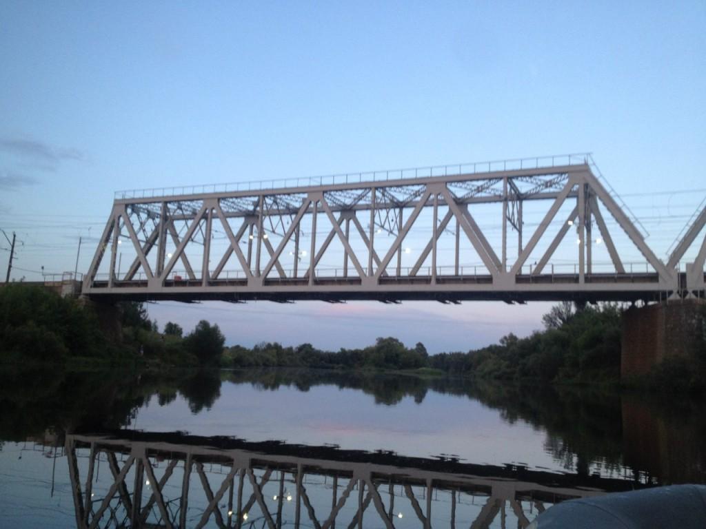 По реке Клязьме 12 Железнодорожный мост Горьковского направления МЖД в пос. Городищи.