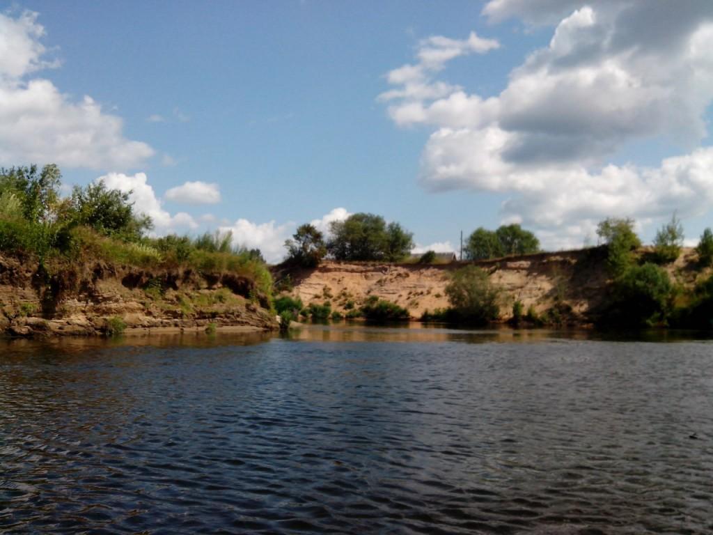 По реке Клязьме 41 На обрывистом берегу д. Крутово.