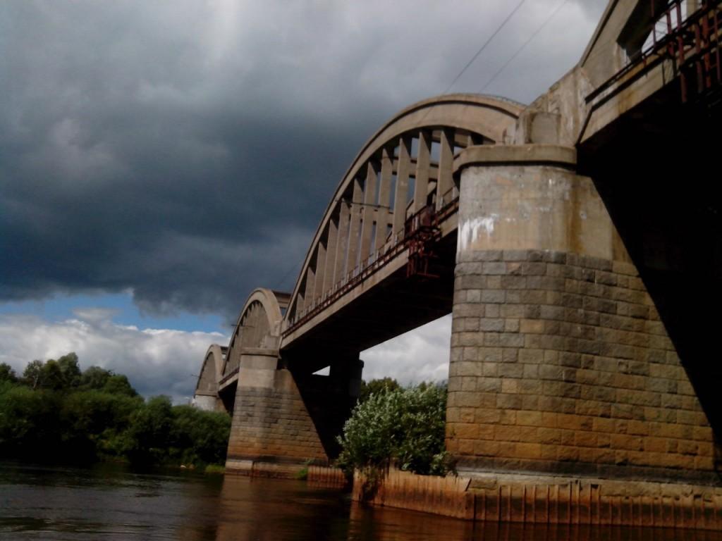 По реке Клязьме 75 Железнодорожный мост возле Владимира (мкр. Мостострой).