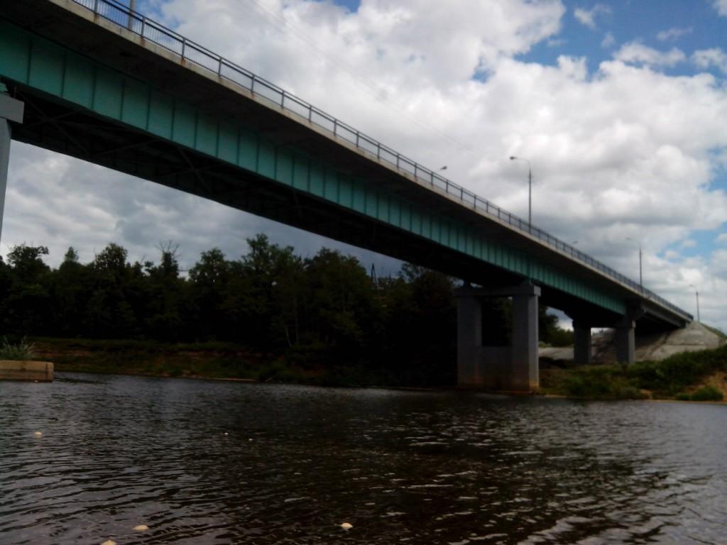 По реке Клязьме 76 Мост через Горьковку.
