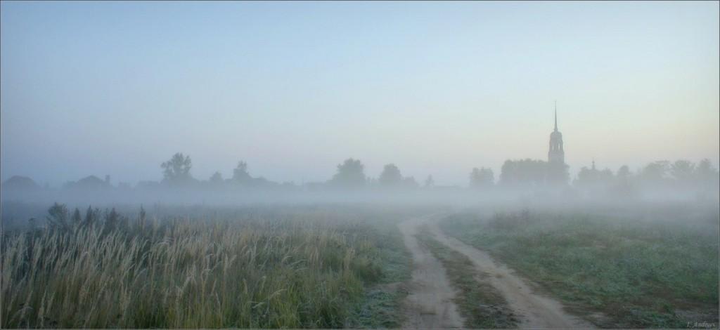 Ранним холодным утром у с.Давыдово (Камешковский район)