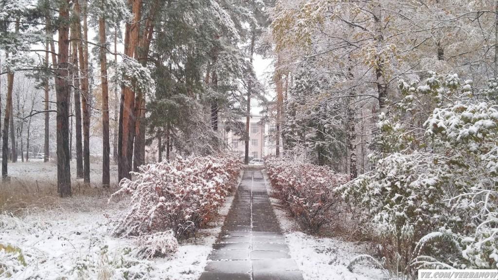 Снежок в теплый день на Вербовском 02