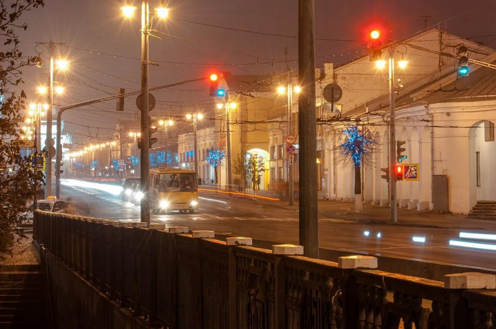 Улицы ночного Владимира осенью 04
