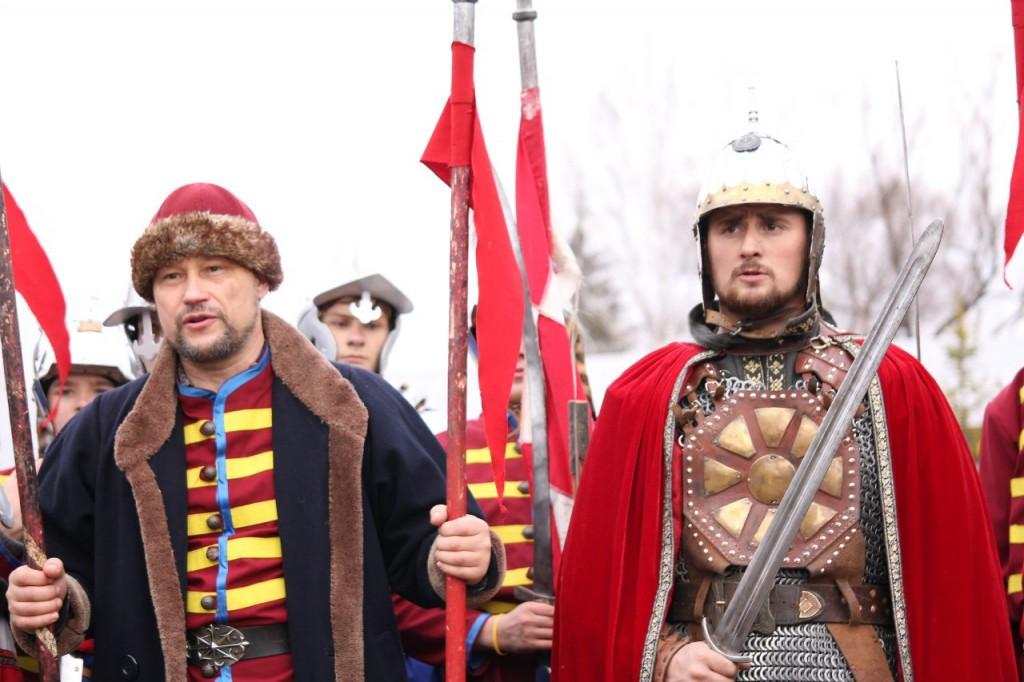Дружина ратоборцев Русичи на Дне Народного Единства в Суздале 03