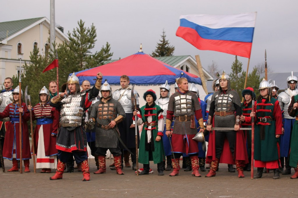 Дружина ратоборцев Русичи на Дне Народного Единства в Суздале 05