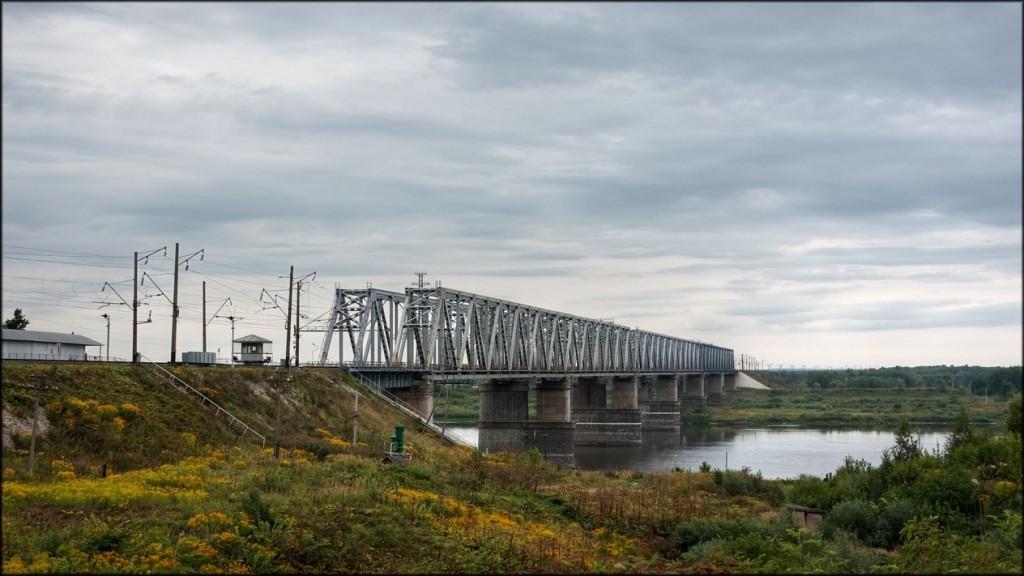 Железнодорожный мост через Оку в Муроме