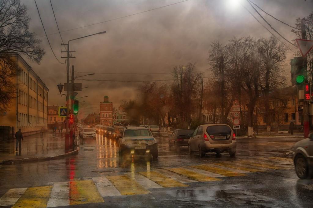 Муром. Осень. Улица Ленина. Автор - Владимир Куксин