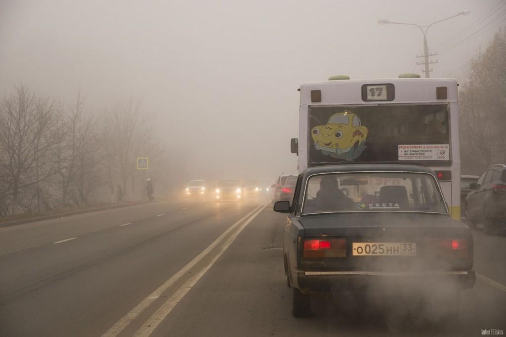 Ноябрьский утренний туман во Владимире (09.11.2015г) 01