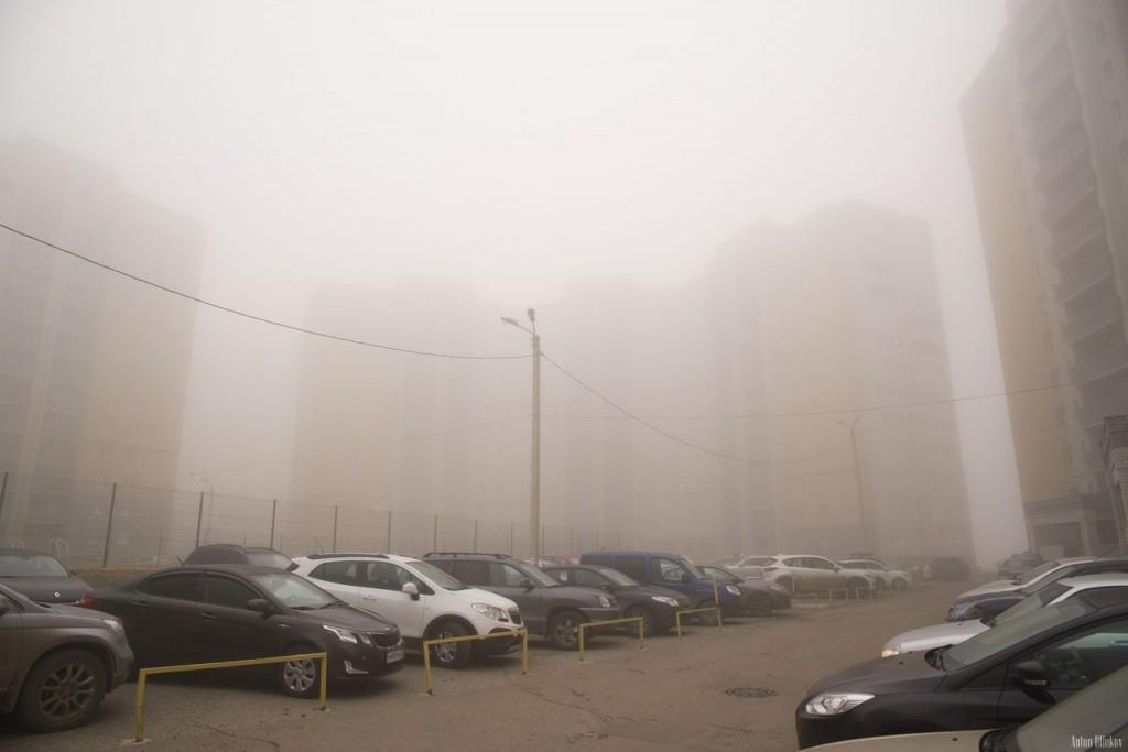 Ноябрьский утренний туман во Владимире (09.11.2015г) 02