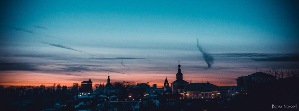 Осенний закат во Владимире