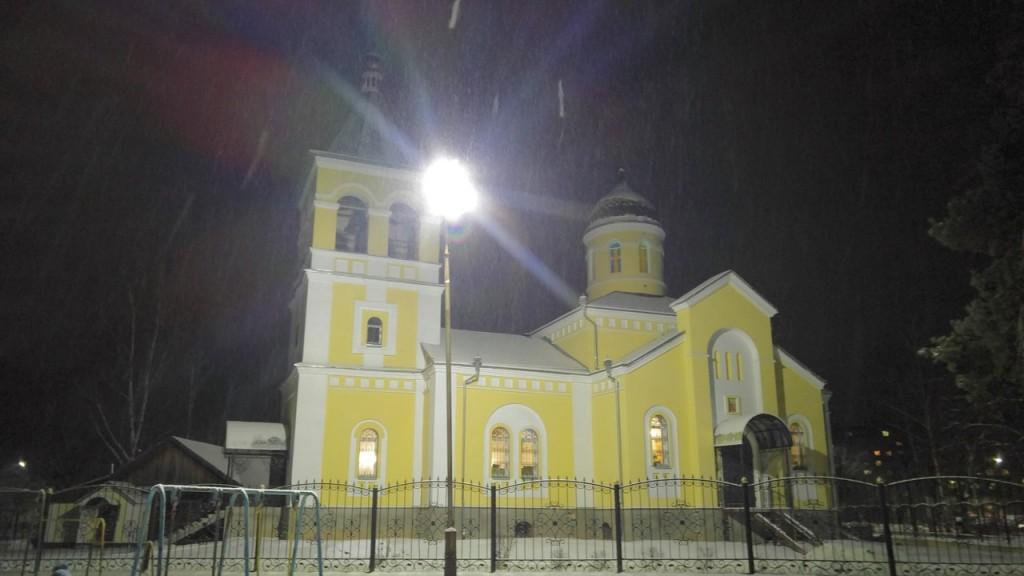 Вербовский поселок, вечер 18.12.2015 - Церковь Андрея Первозванного