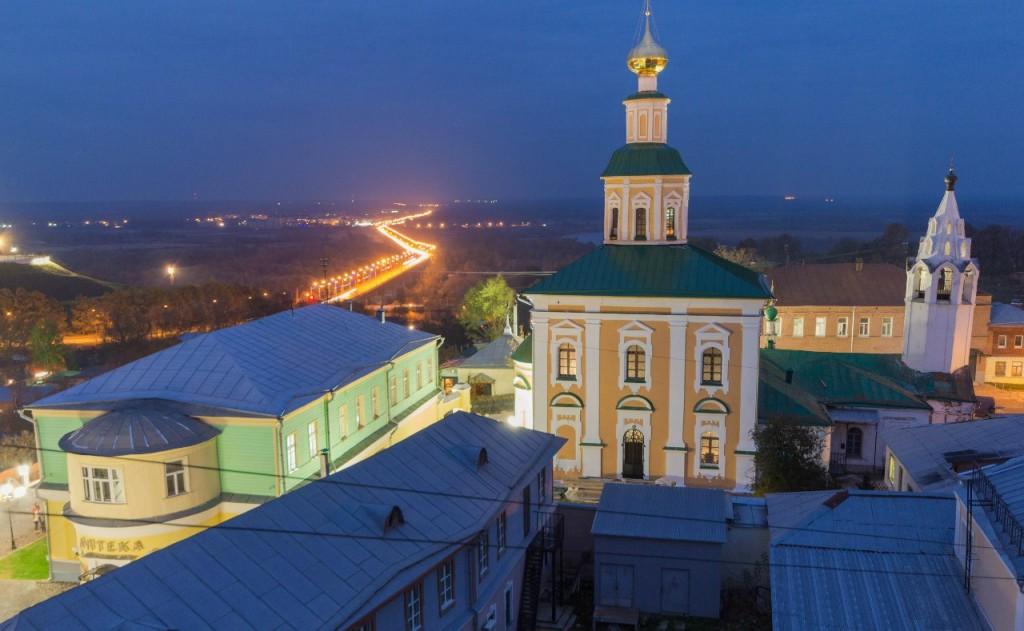 Вид с крыши в центре Владимира
