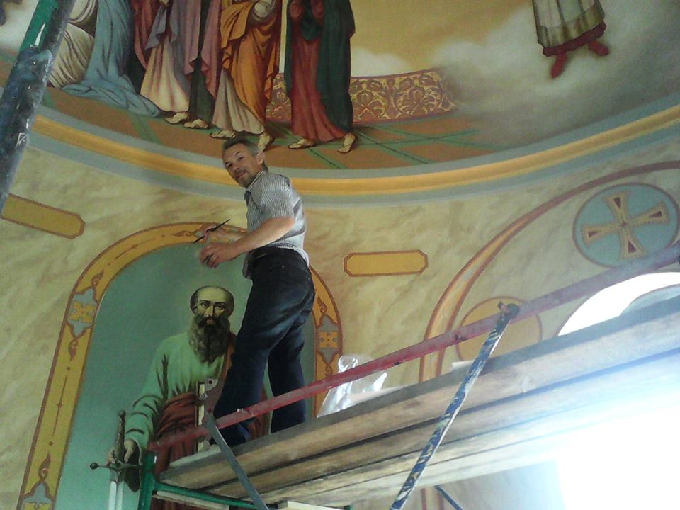 Виктор Бычков, росписи в Часовне в честь Первоверховных апостолов Петра и Павла 02