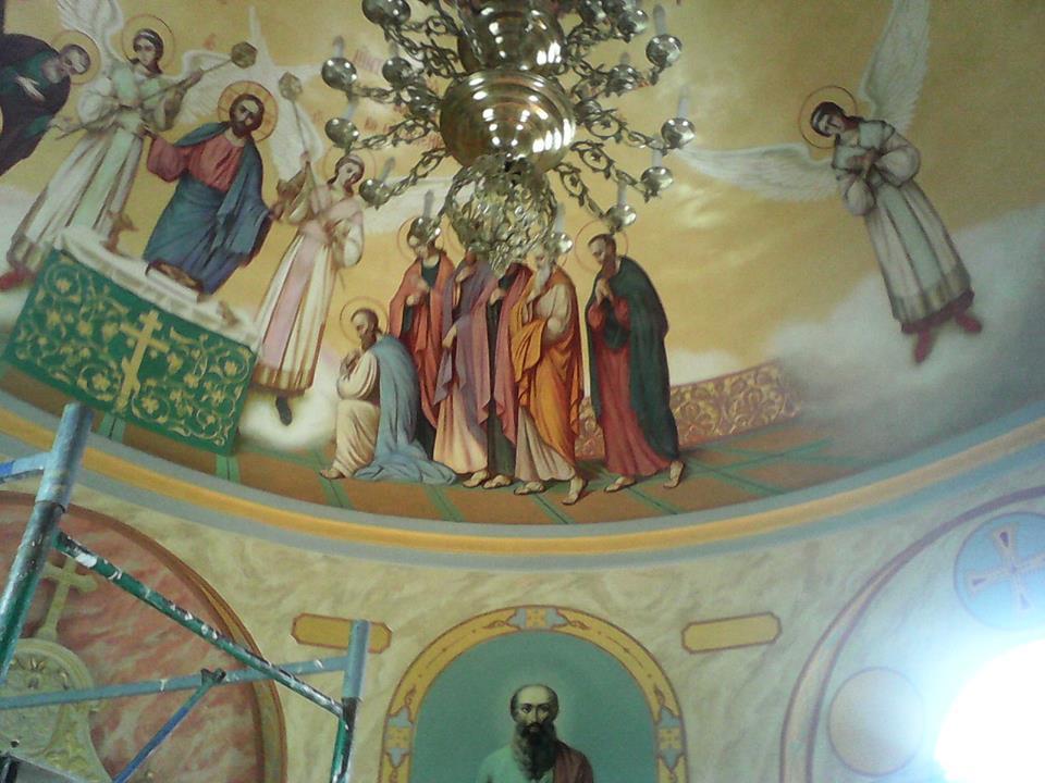 Виктор Бычков, росписи в Часовне в честь Первоверховных апостолов Петра и Павла 04