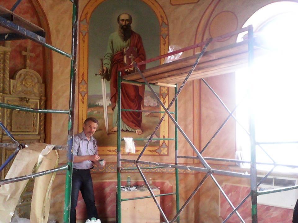 Виктор Бычков, росписи в Часовне в честь Первоверховных апостолов Петра и Павла 06