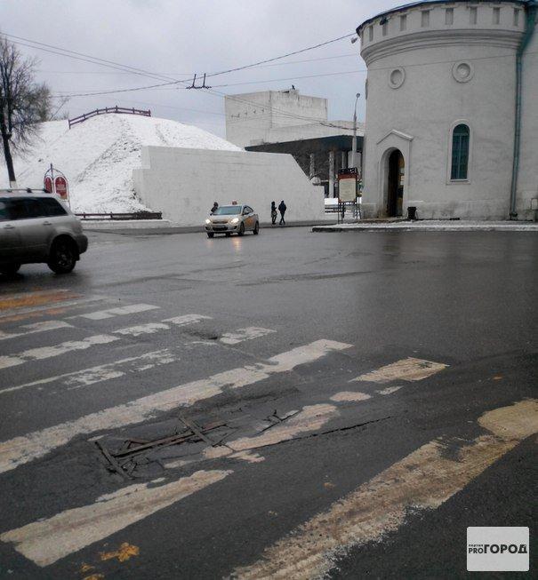 В таком состоянии находится дорога в самом центре города Владимира 2