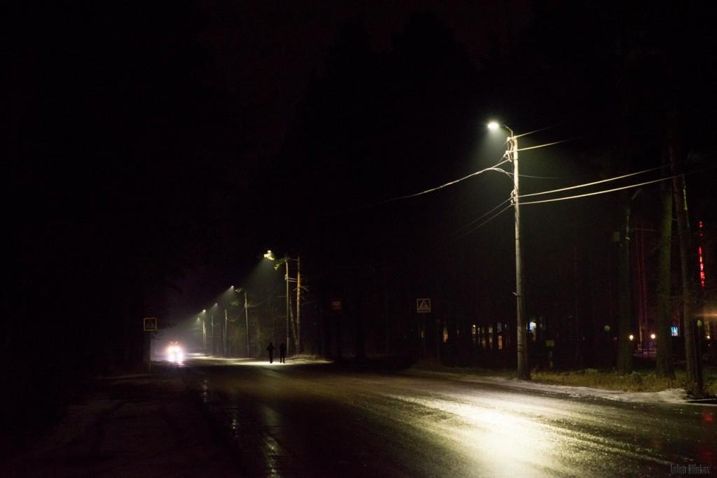 Гусь-Хрустальный. Замена ламп уличного освещения на светодиодные 01