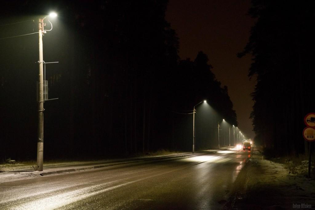 Гусь-Хрустальный. Замена ламп уличного освещения на светодиодные 02