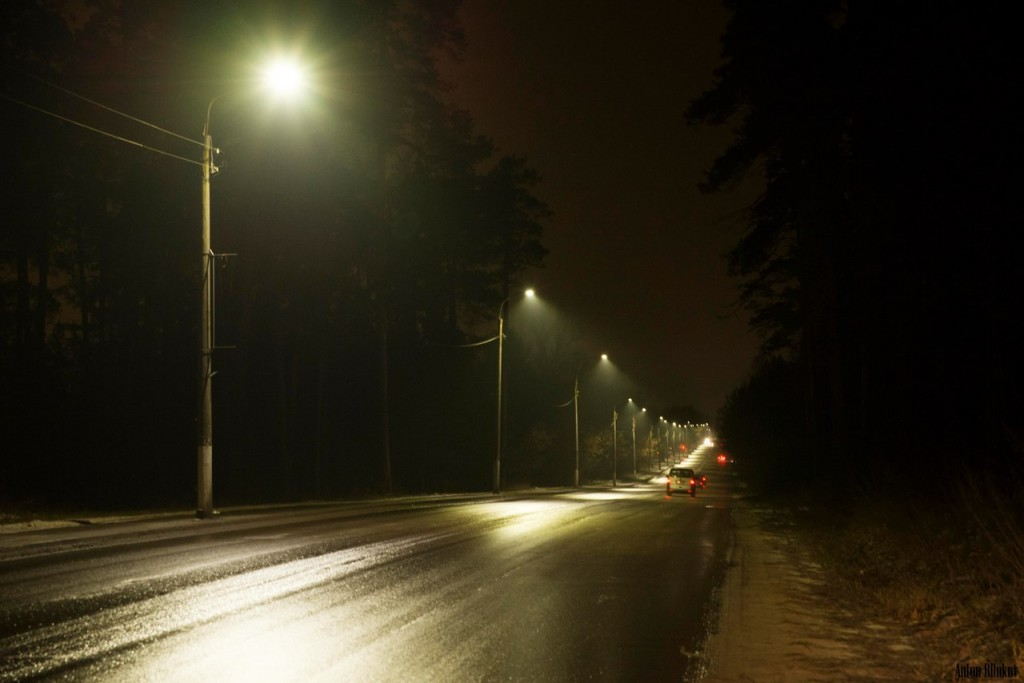 Гусь-Хрустальный. Замена ламп уличного освещения на светодиодные 03