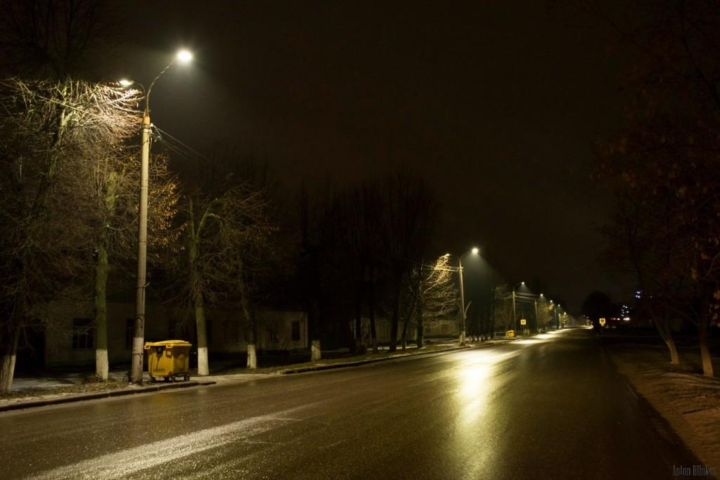Гусь-Хрустальный. Замена ламп уличного освещения на светодиодные 04